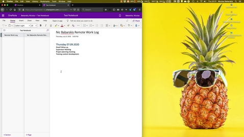 Thumbnail for entry OneNote Remote Log