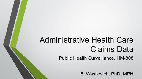 Thumbnail for entry AdministrativeClaimsData