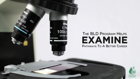 Thumbnail for entry Scholars Choose BLD [Biomedical Laboratory Diagnostics]