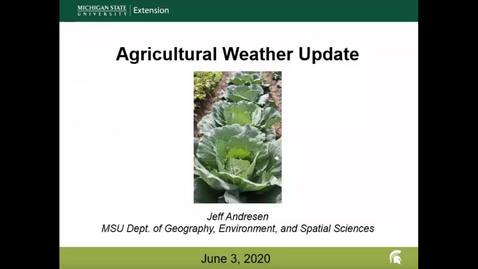 Thumbnail for entry Agricultural weather forecast for June 3, 2020