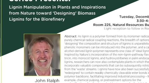 Thumbnail for entry Hanover Forest Science Seminar Series Presents: John Ralph