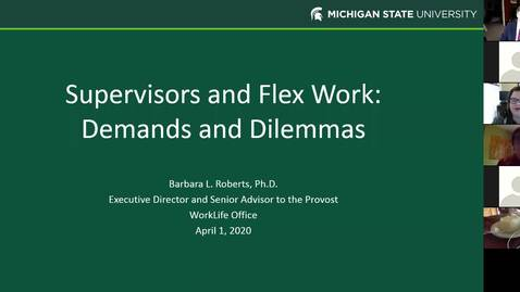 Thumbnail for entry Supervisors and Flex Work