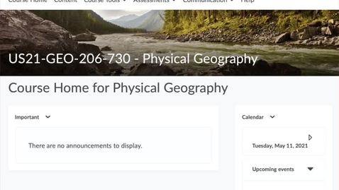 Thumbnail for entry GEO206: Your course website in D2L