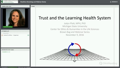 Thumbnail for entry Trust and the Learning Health System