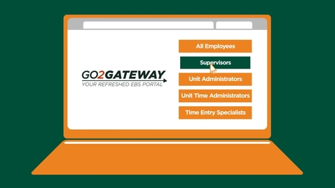 Thumbnail for entry Go2Gateway Awareness Video for Supervisors