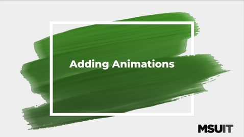 Thumbnail for entry IT Virtual Workshop - Adding Animations in Camtasia