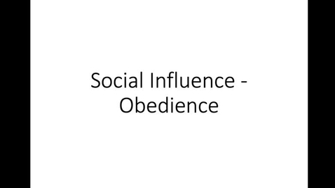 Thumbnail for entry Obedience
