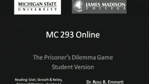 Thumbnail for entry Prisoners Dilemma: Student Version