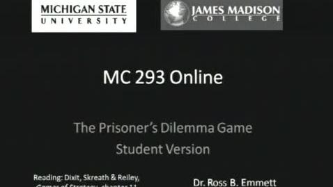 Thumbnail for entry Prisoners Dilemma: Student Version