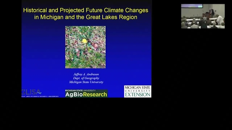 Thumbnail for entry Historical and projected future climate changes in Michigan and the Great Lakes region
