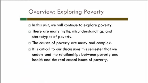 Thumbnail for entry What is Poverty