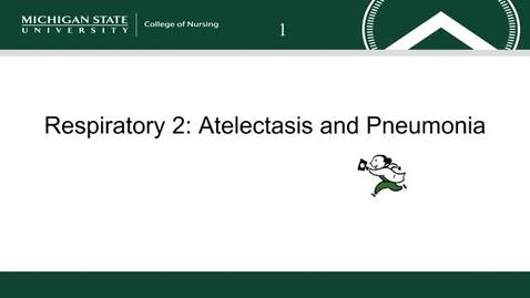 Thumbnail for entry Respiratory 2: Atelectasis and Pneumonia