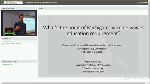Thumbnail for entry What's the point of Michigan's vaccine waiver education requirement?