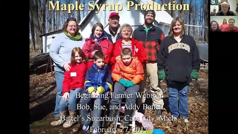 Thumbnail for entry Maple  Syrup  Feb 27, 2017