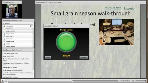 Thumbnail for entry Small Grains 2015 PART 2  1hr 10 minutes to end
