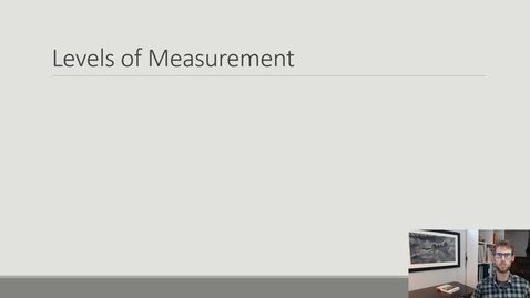 Thumbnail for entry Levels of measurement