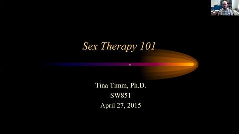 Thumbnail for entry Sex Therapy 101