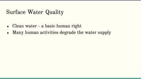 Thumbnail for entry ISS310: Surface Water Quality