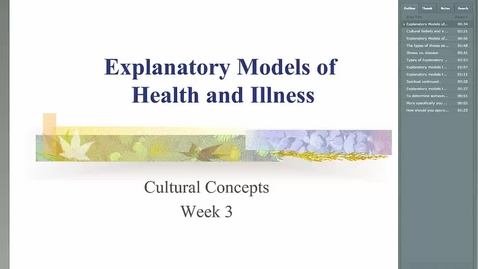 Thumbnail for entry HM838 Mod3ExplanatoryModelsofHealth