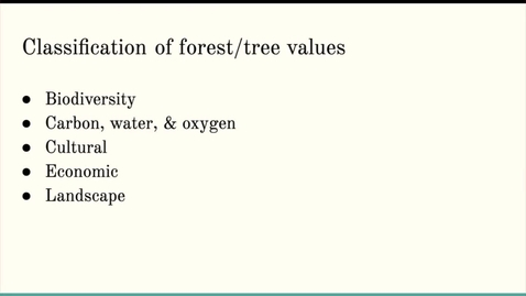 Thumbnail for entry ISS310: The Value of Trees
