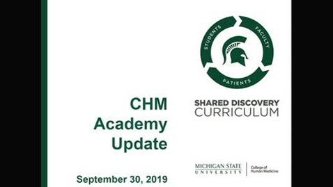 Thumbnail for entry CHM Academy Meeting 9-30-19