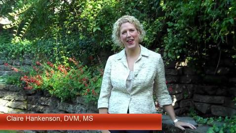 Thumbnail for entry New Attending Vet & ULAR Director - Claire Hankenson, DVM, MS