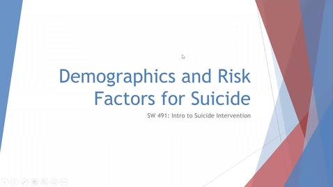 Thumbnail for entry Demographics and Risk Factors for Suicide