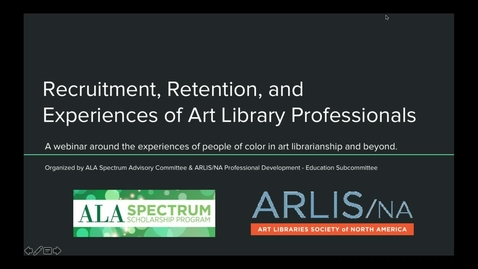 Thumbnail for entry Recruitment, Retention, and Experiences of Art Library Professionals