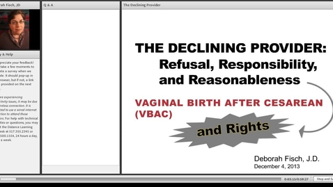 Thumbnail for entry The Declining Provider: Refusal, Responsibility, and Reasonableness