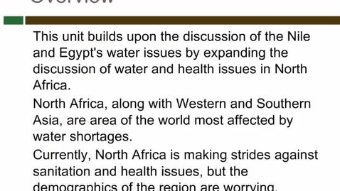 Thumbnail for entry Water and Health in North Africa