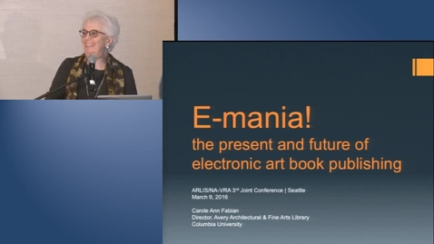 Thumbnail for entry E-mania! — the present and future of electronic art book publishing