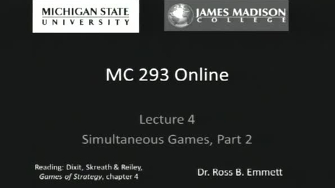 Thumbnail for entry Simultaneous Games, Part 2