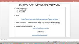 Thumbnail for entry Setting Up Your JupyterHub Password