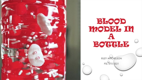 Thumbnail for entry PSL 475L Honors Option- Blood Model in a Bottle Activity
