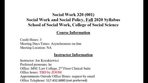 Thumbnail for entry SW 320 W1 V2 Syllabus Overview