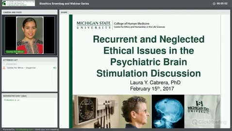 Thumbnail for entry Recurrent and Neglected Ethical Issues in the Psychiatric Brain Stimulation Discussion