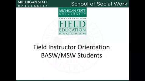 Thumbnail for entry Field Instructor Training Video 2018