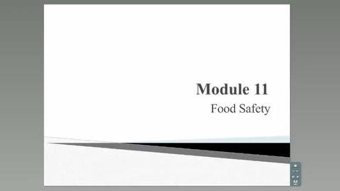 Thumbnail for entry HM 801_Module 11_Food Safety