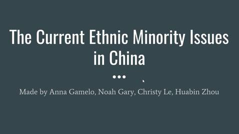 Thumbnail for entry ISS330B-001-Current Ethnic Minority Issues in China