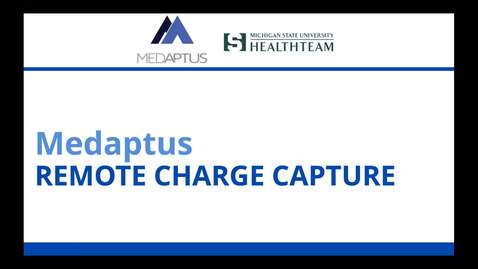 Thumbnail for entry MedAptus Training Finalized.mp4
