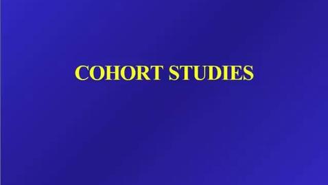 Thumbnail for entry HM 803 Cohort Studies