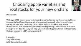 Thumbnail for entry Choosing apple varieties and rootstocks for your new orchard Feb 7 2018