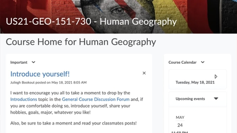 Thumbnail for entry GEO151: Taking Quizzes in GEO151