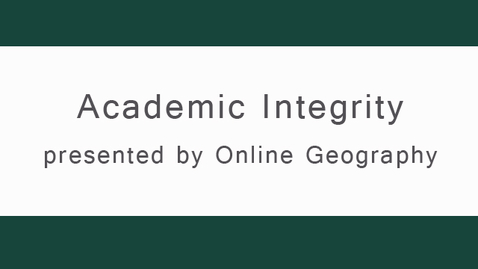 Thumbnail for entry onGEO Academic Integrity