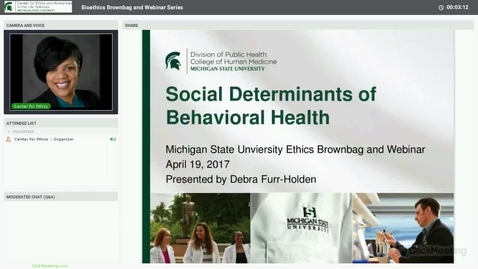 Thumbnail for entry Social Determinants of Behavioral Health