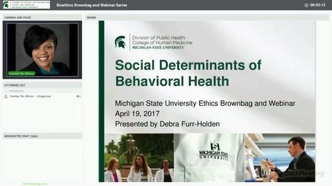 Thumbnail for entry Social Determinants of Behavioral Health