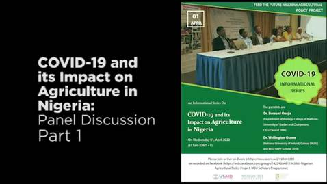 Thumbnail for entry COVID-19 and its Impact on Agriculture in Nigeria Audio Part 1