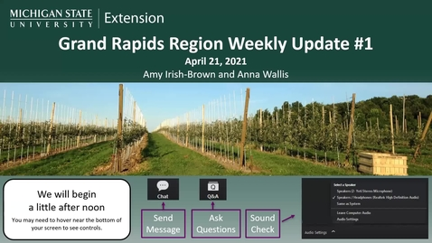 Thumbnail for entry Grand Rapids Region Weekly Update #1 April 21, 2021