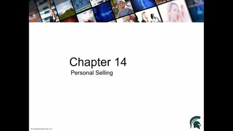 Thumbnail for entry Chapter 14 Personal Selling