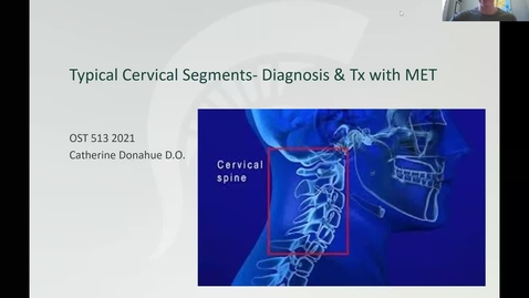 Thumbnail for entry Typical Cervicals Diagnosis & MET